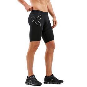 2XU Run Dash Compression Shorts Heren, black/silver reflective